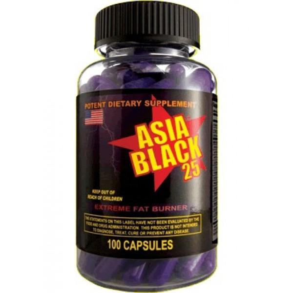 Asia Black 25 100 Caps