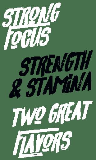 Poderosa Concentración, Fuerza y Resistencia, Dos Grandiosos Sabores, Infundido con AMPiberry, Con OxyGold