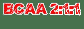 BCAA en proporción 2:1:1