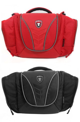 maleta rojo con gris, maleta negro con gris