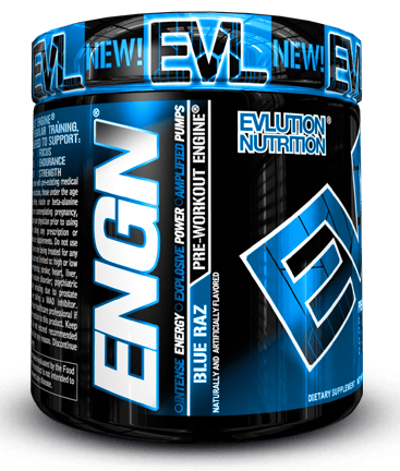 ENGN PRE-WORKOUT ENGINE bottle by EVLUTION NUTRITION