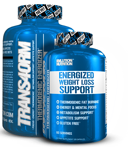 TRANS4ORM bottles by EVL EVLUTION NUTRITION