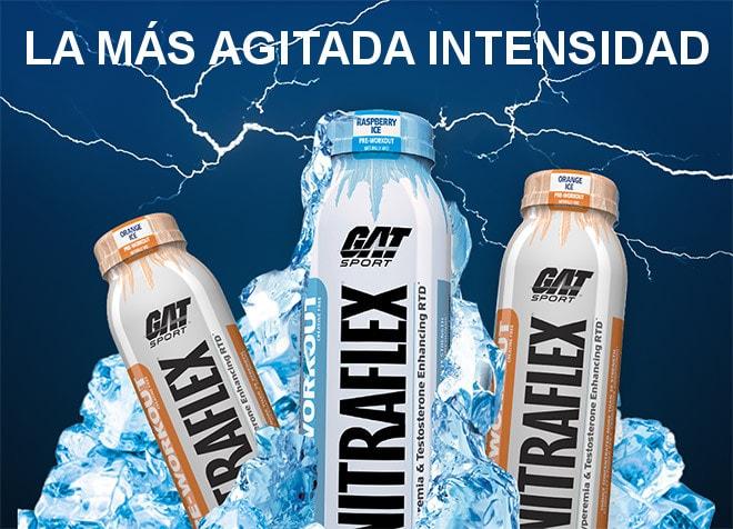 The Most Seething Intensity. GAT Sport Nitraflex bottle image