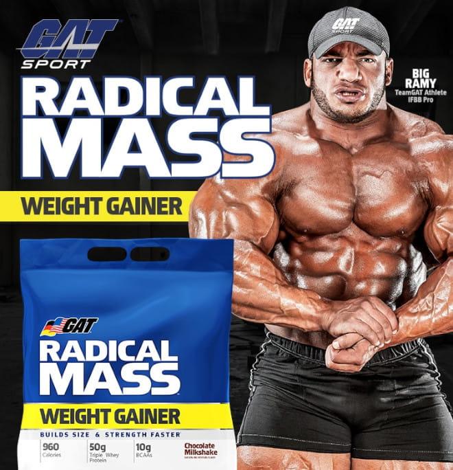 GAT Sport. Radical Mass Weight Gainer. Big Ramy. TeamGAT Athlete. IFBB Pro.