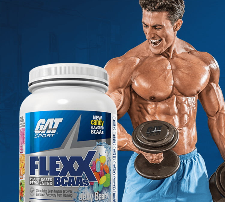 Flexx BCAAs and GAT athlete