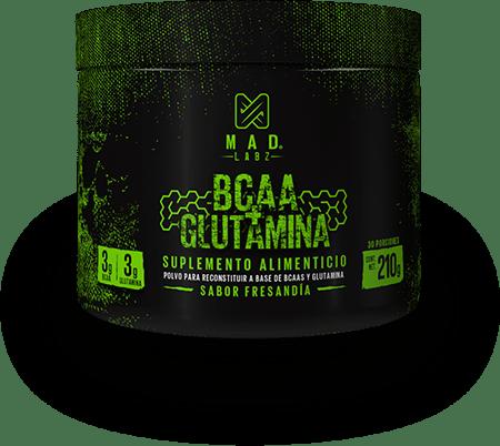 bote BCAAS + Glutamina de MAD LAbz