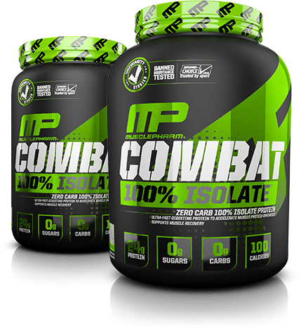 MusclePharm Combat 100% Isolate Tubs