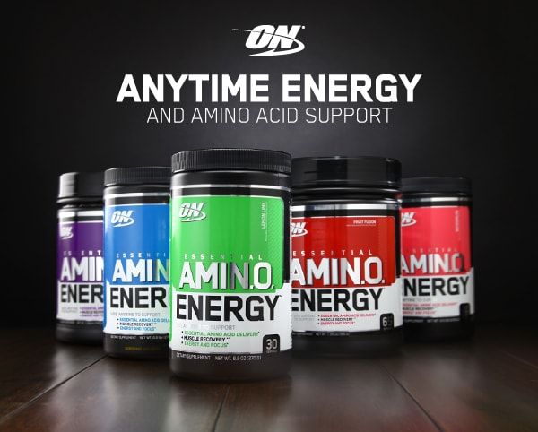 Optimum Nutrition. Anytime Energy and Amino Acid Support