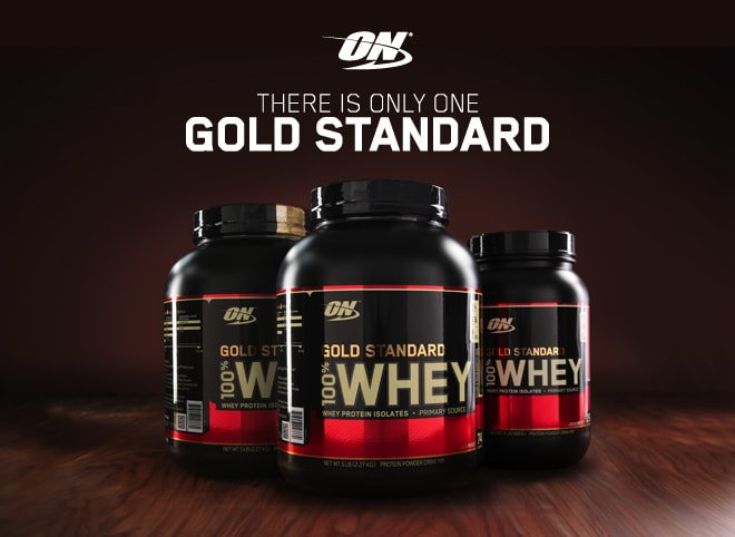 Optimum Nutrition. There's Only One Gold Standard.