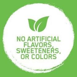 Sin saborizantes, endulzantes, o colorantes artificiales