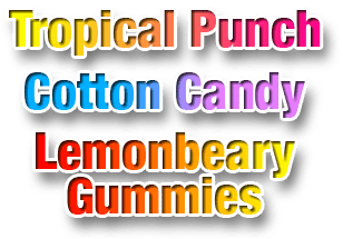 Sabores: Cotton Candy, Tropical Punch, Lemonbeary Gummies